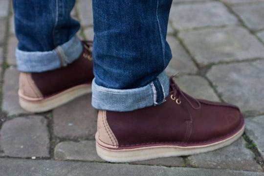 Clarks Originals Wallabee Run Beige Mens Shoes
